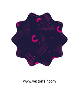 color star with graphic abstract style background