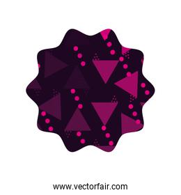 color star with memphis graphic abstract background