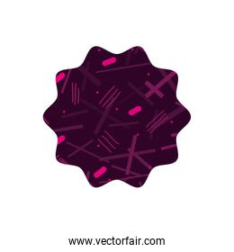 color star with geometric figure style background