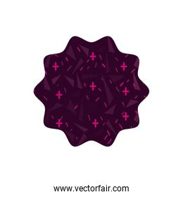 color star with geometric graphic style background
