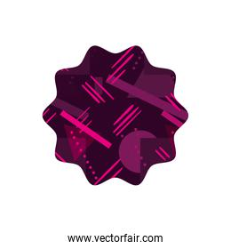 color star with figures geometric style background