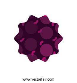 color star with graphic style geometric background