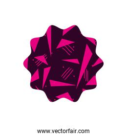 color star with style geometric figure background