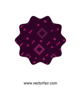 color star with graphic geometric style background