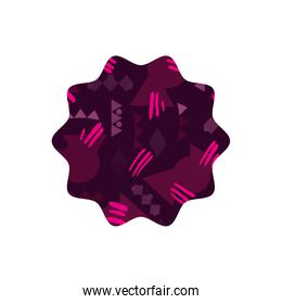 color star with memphis geometric style background