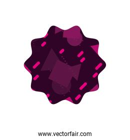 color star with graphic geometric art background
