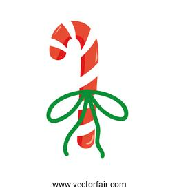 colorful sweet walking stick with ribbon bow design