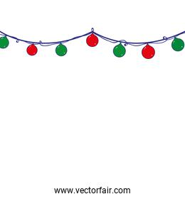 full color merry christmas lights decoration design