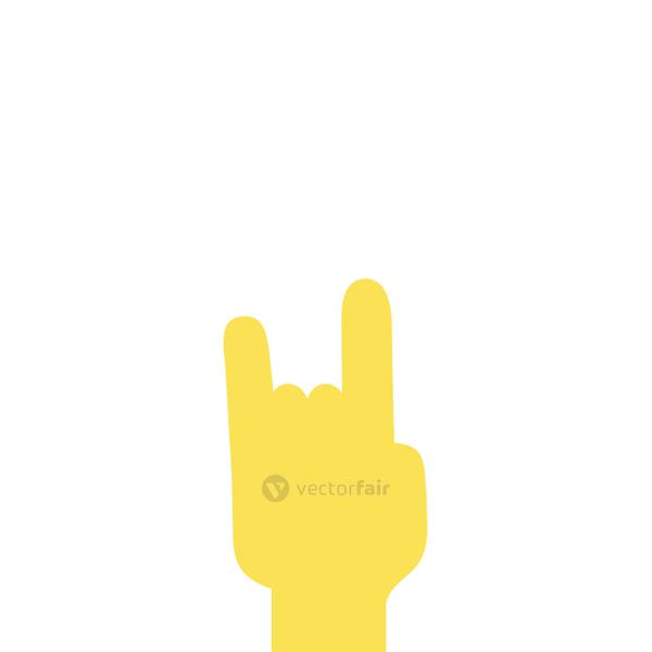 colorful hand with rock gesture symbol communication