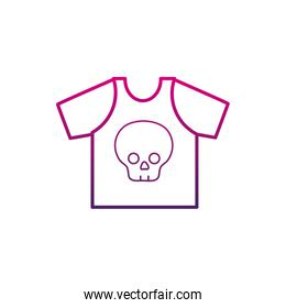 color line rock t-shirt with skull design casul clothes