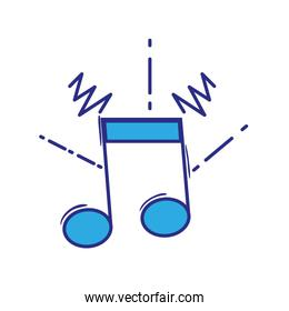 full color musical note sign to rhythm sound