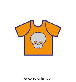 full color rock t-shirt with skull design casul clothes