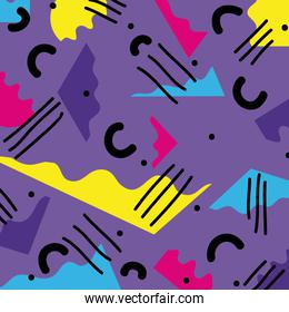 graphic abstract memphis style background