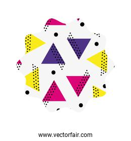 star with geometric style figures background