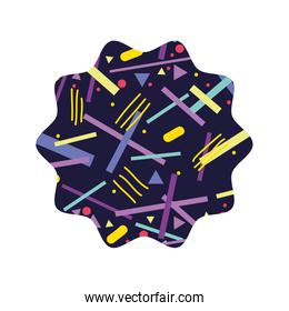 star with abstract graphic style background
