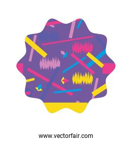 star with graphic abstract style background