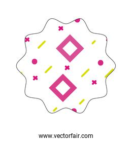 star with geometric abstract figures background