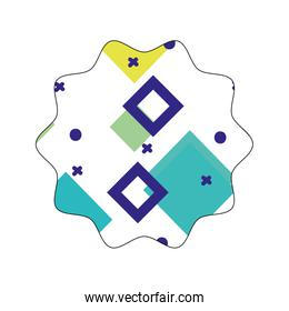 star with geometric style graphic background