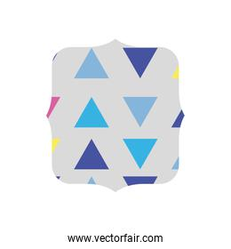 quadrate with graphic geometric style background