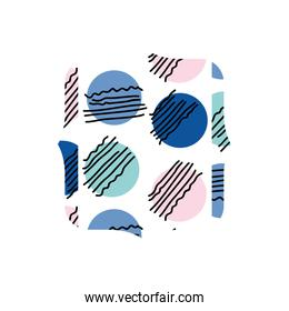 quadrate with geometric graphic style background
