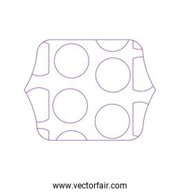 dotty shape quadrate with memphis geometric figure background
