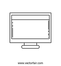 line computer technology with screen and webside design