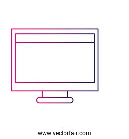 color line computer technology with screen and webside
