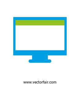 colorful computer technology with screen and webside design