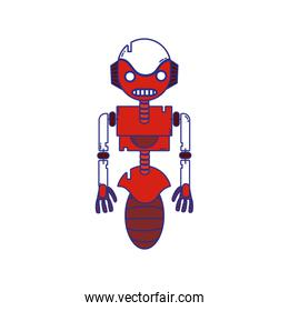 full color robot technology with machine body design