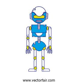 full color technology robot with robotic body design