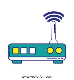 full color router digital wifi technology network
