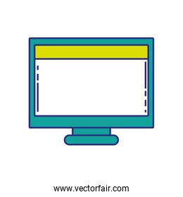 full color computer technology with screen and webside design