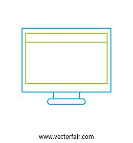 color line computer technology with screen and webside design
