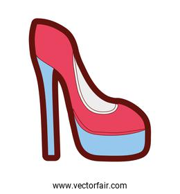 full color fashion heels high shoes style