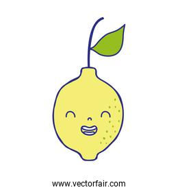 full color cute lemon kawaii smile fruit
