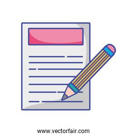 paper document with pencil tool design