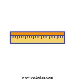 line color ruler school tool to study education