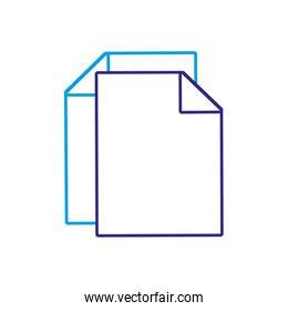 silhouette sheet paper to note business document