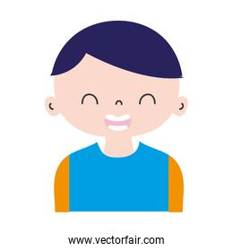 colorful smile boy with t-shirt and hairstyle