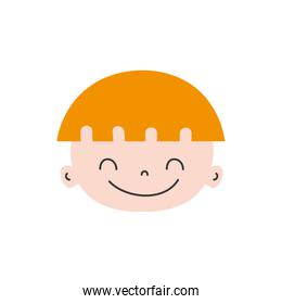 colorful happy avatar boy face with hairstyle