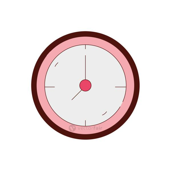 line color wall circle clock object design
