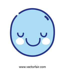 full color kawaii cute happy face expression