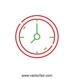 color line wall circle clock object design