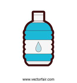 line color water bottle to drink and healthy liquid