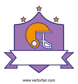 full color helmet protection emblem with stars and ribbon design
