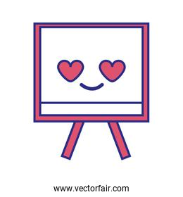 full color cute and in love board object kawaii