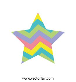 colorful star bright rainbow in the star design