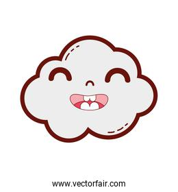 line color happy and cute cloud kawaii weather