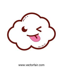 line color funny and cute cloud kawaii weather