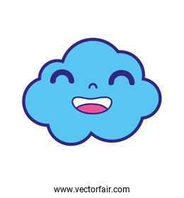 full color happy and cute cloud kawaii weather